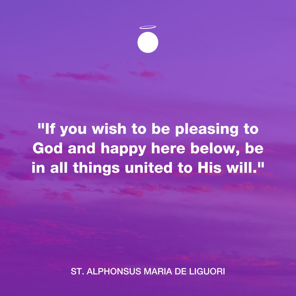 Hallow Daily Quote - His will