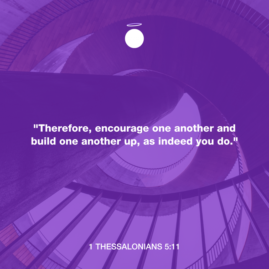 Hallow Bible Quote - 1 Thessalonians 5:11