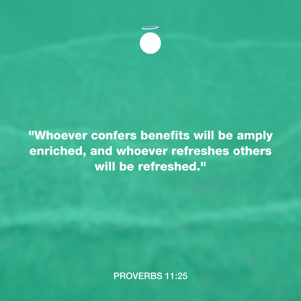 Hallow Bible Quote - Proverbs 11:25