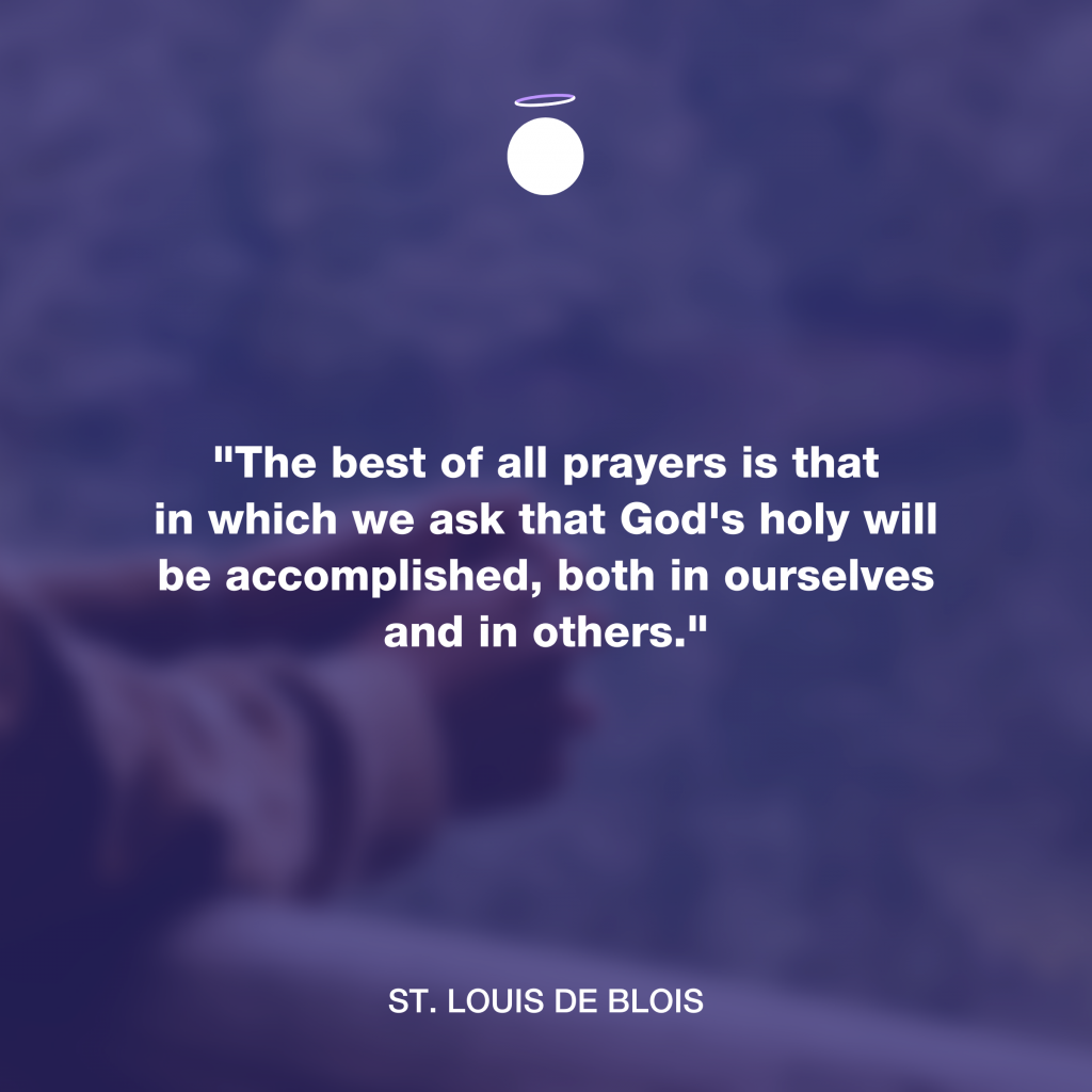 Hallow Daily Quote - Holy will
