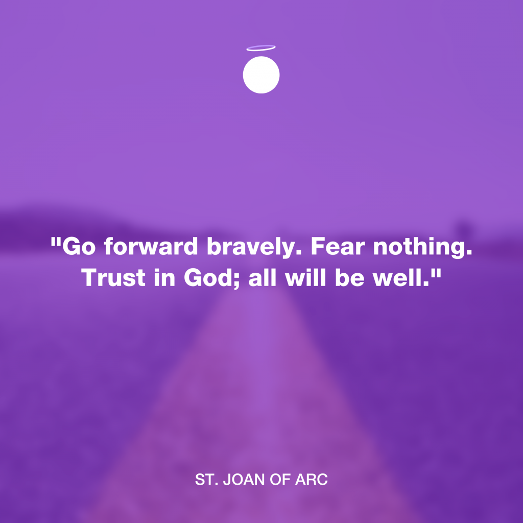 Hallow Daily Quote - Joan of Arc