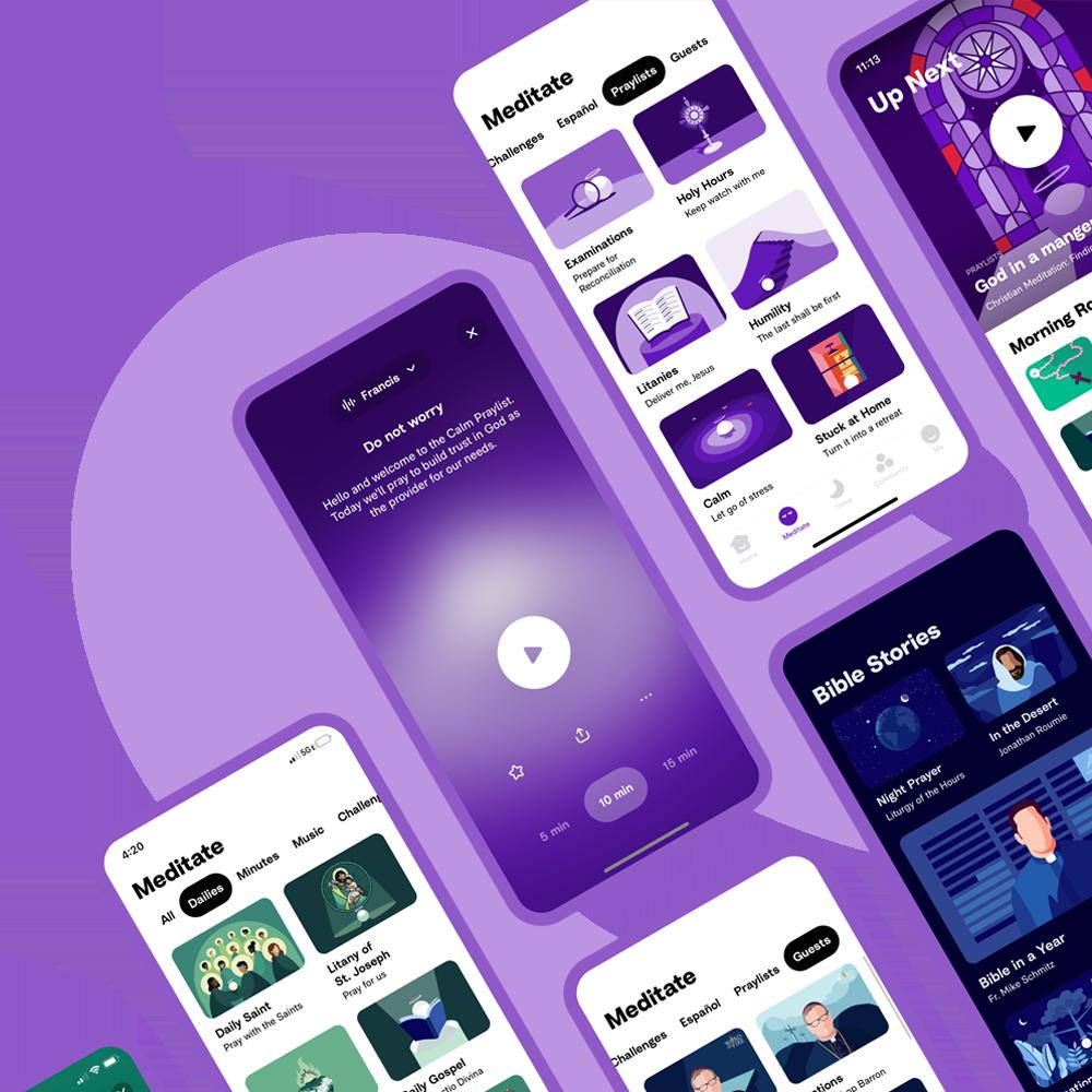 Download Hallow Screenshots - Catholic App