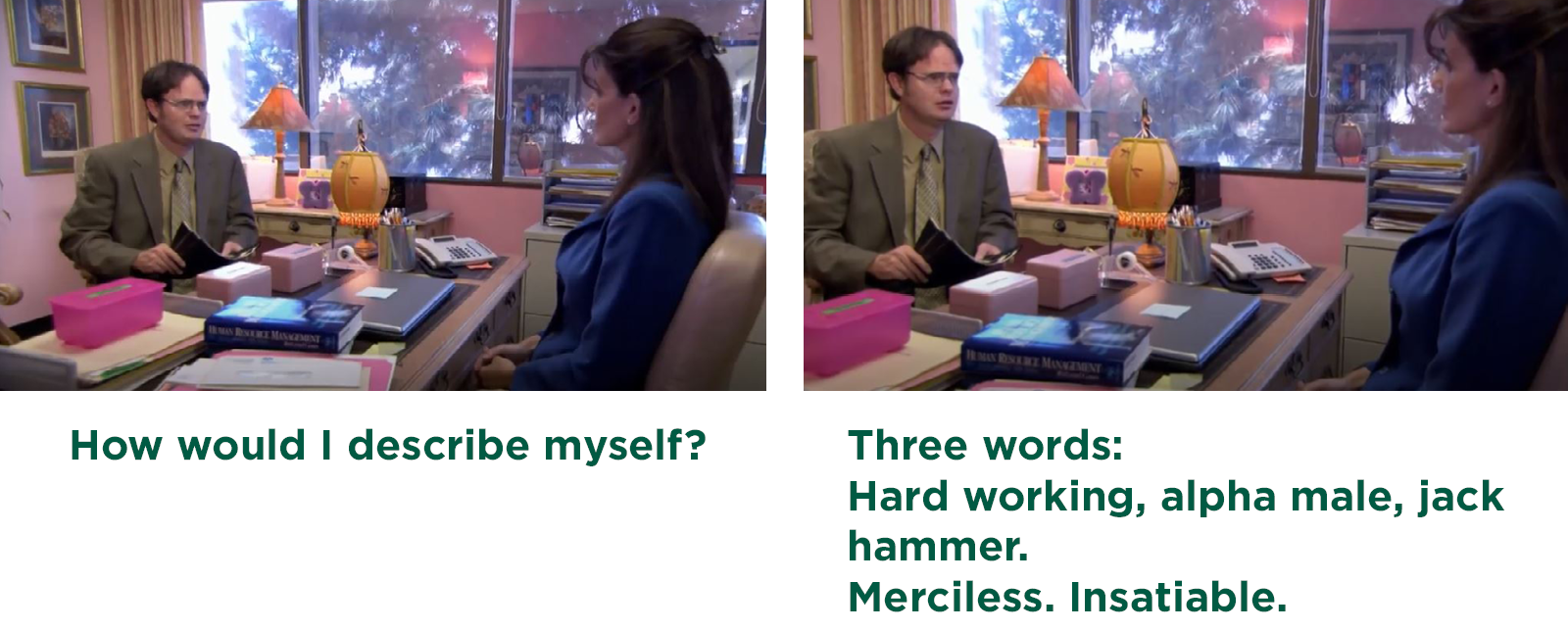 How would I describe myself during an interview?