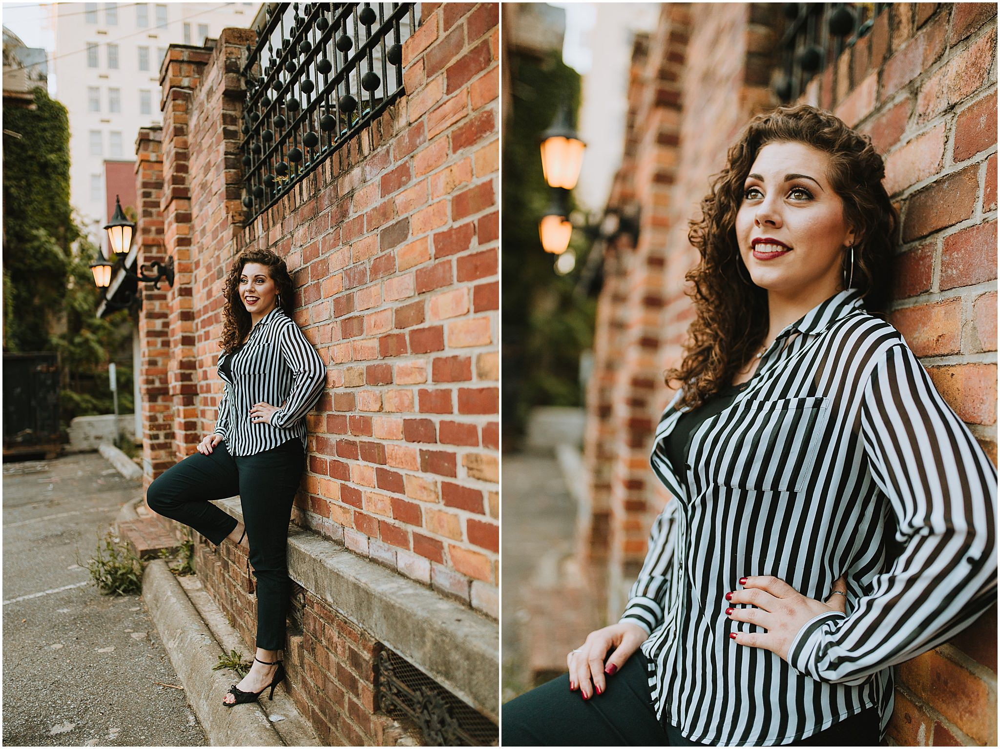 Senior Portrait Photographer Downtown Lynchburg Virginia, Sara's Senior Portrait Downtown Lynchburg, VA