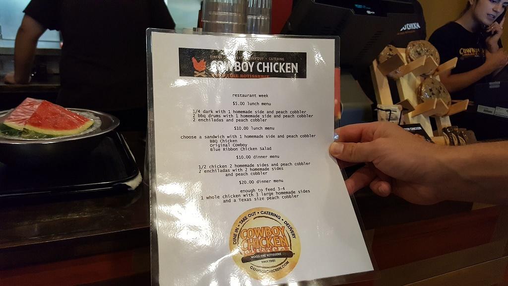 Cowboy Chicken BRW Menu