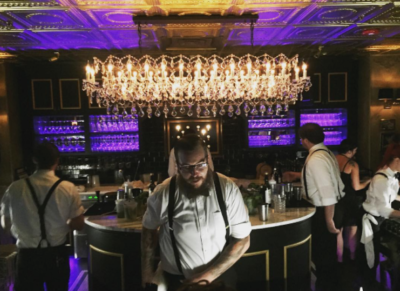 Bartenders and servers dress in 1920's attire. Photo Credit: @lana_waites on Instagram