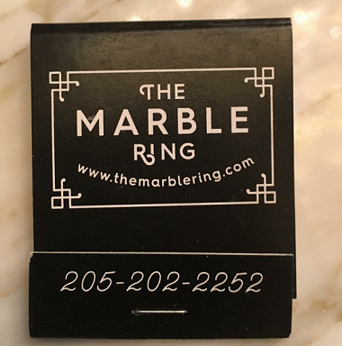 Marble Ring Matchbook. Photo Credit: @txcleveland on Instagram