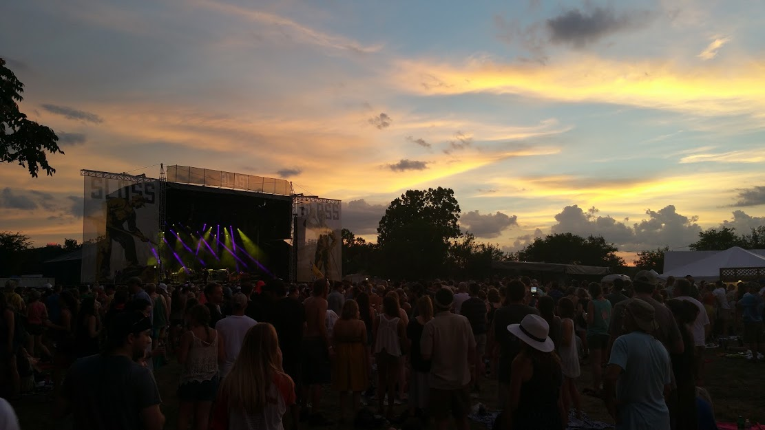 Sunset over Sloss Fest