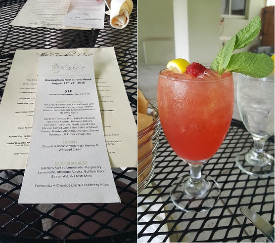 BRW Menu and Spiked Lemonade