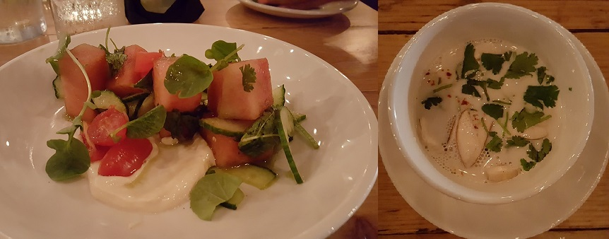 Watermelon Salad and Tom-Ka - Wooden Goat