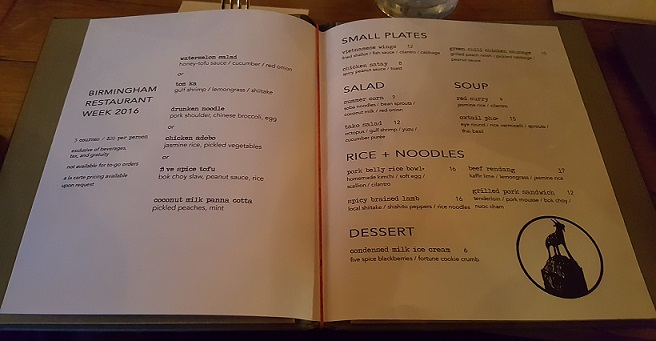 Wooden Goat Menu