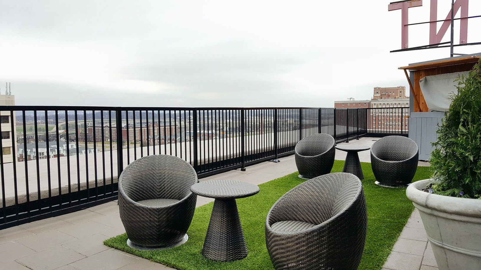 Redmont Rooftop. Just picture cushions in the seats.