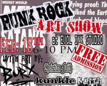 Punk Rock Art Show Poster