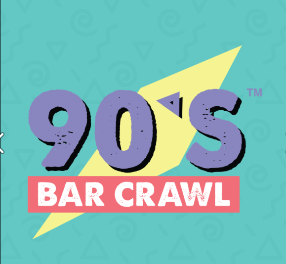 90's Bar Crawl Logo