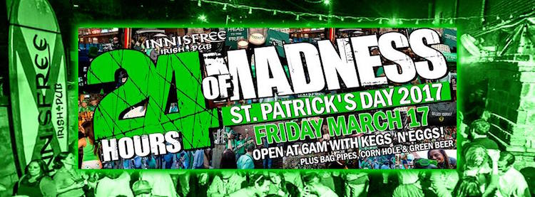 Innisfree 24 hours of Madness St. Patrick's Day