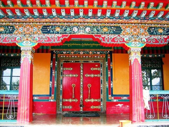 Library of Tibetan Works and Archives Colorful Front Door Credit: Pinterest.com