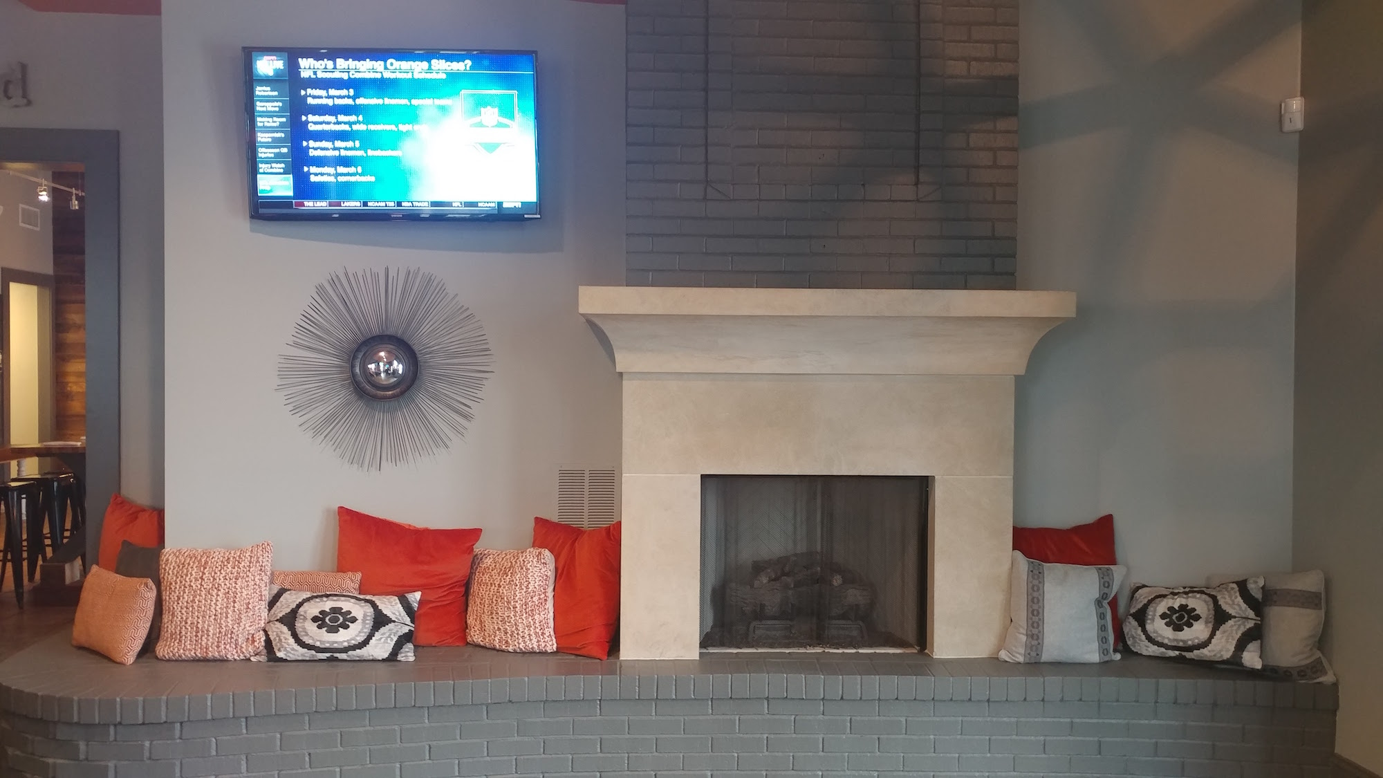 SoHo Social Fireplace