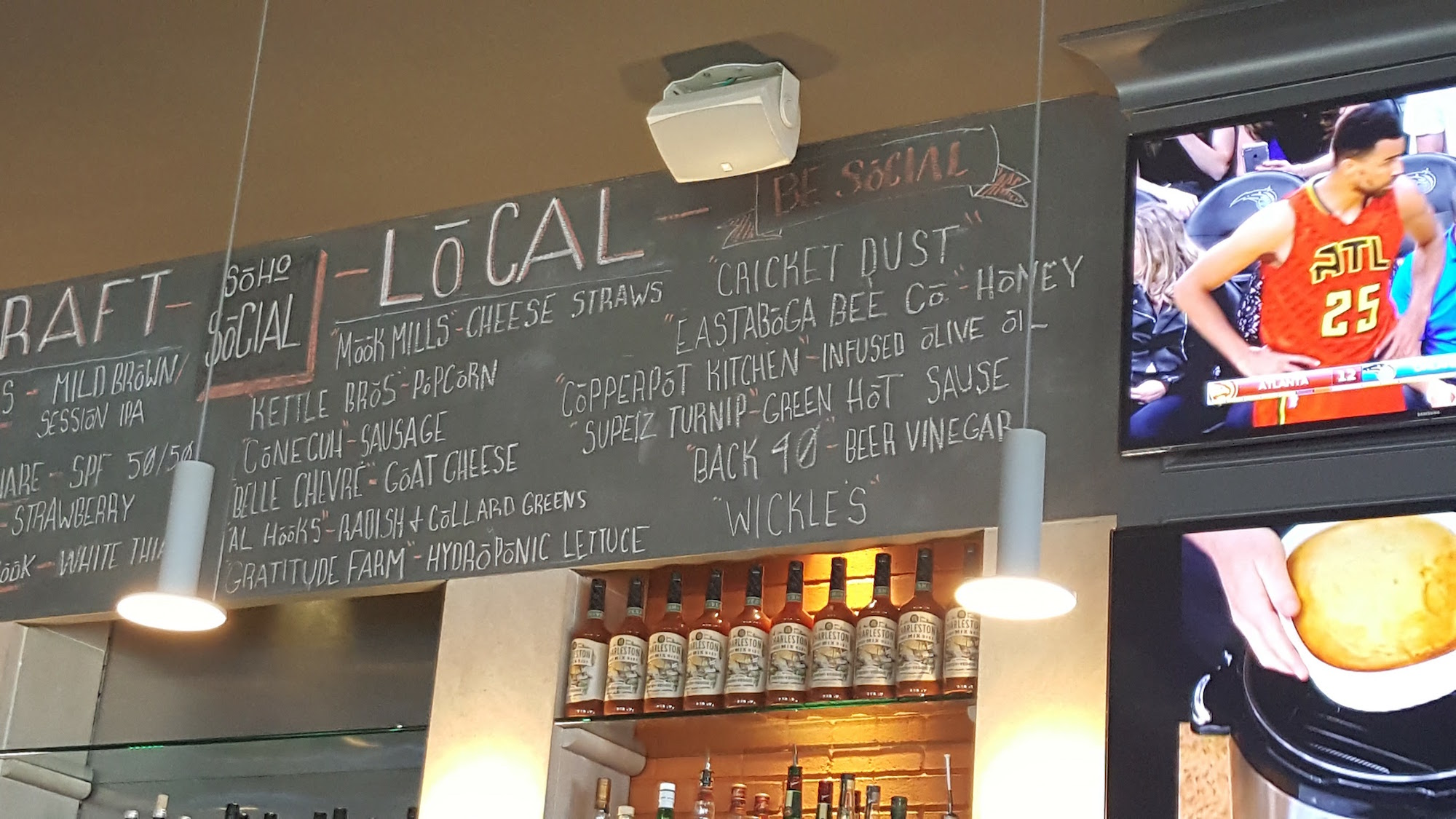 Local Chalkboard Menu