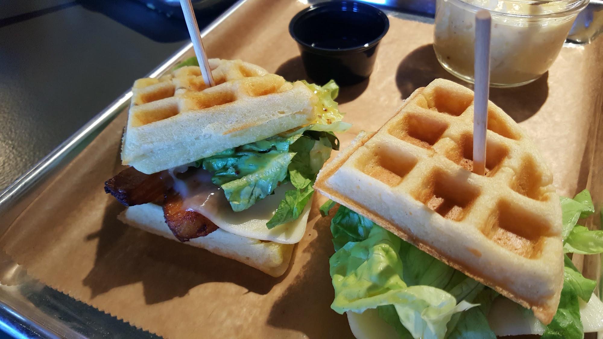 SoHo Social Pork Belly & Waffle Sliders