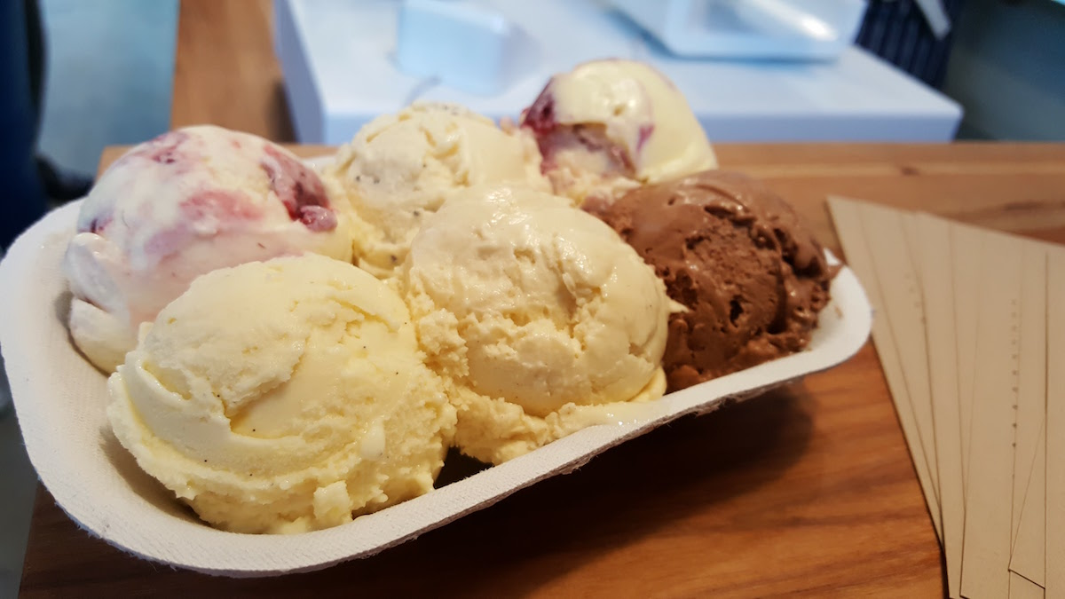 Ice Cream Flight at Big Spoon Creamery