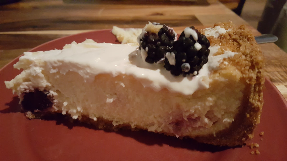 Fig Tree Cafe Blackberry Cheesecake