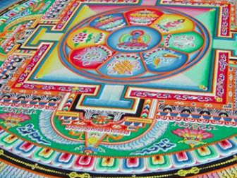 Colorful Sand Mandala