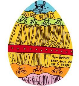 Easter Alleycat Egg Art