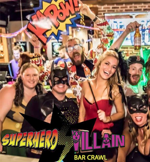 Superhero Villain Bar Crawl Birmingham