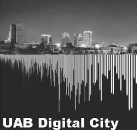UAB Digital City Logo Birmingham Skyline