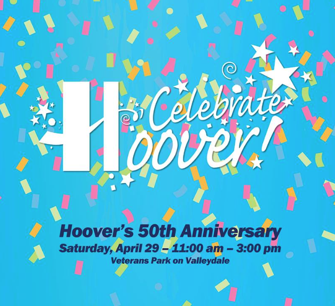 Celebrate Hoover Day 50th Logo