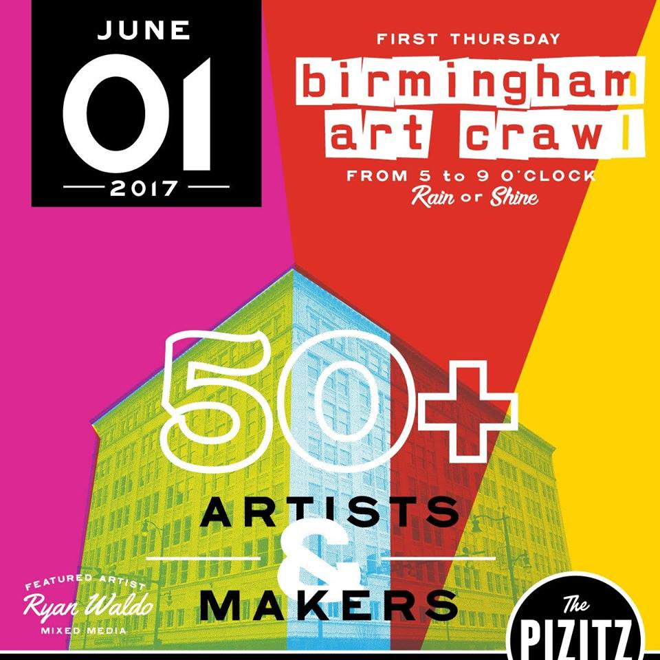 Birmingham Art Crawl June 2017