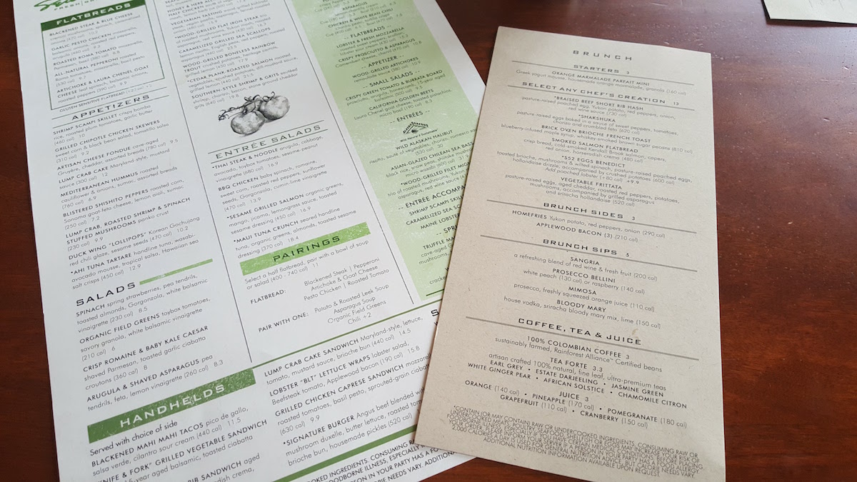 Seasons 52 Lunch and Brunch Menus