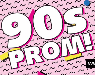90s Prom Logo with shapes