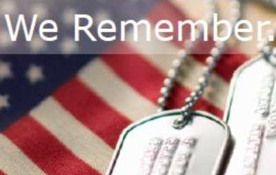 Dog Tags over American Flag
