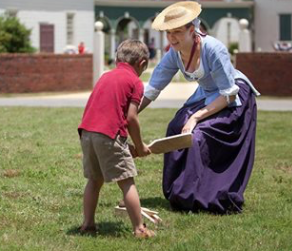 American Village Woman and Child
