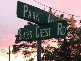 Park & Shades Crest Street Sign
