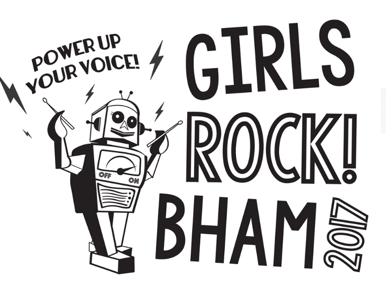 Girls Rock Birmingham 2017 Logo