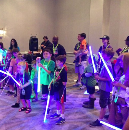 Kids with Light Sabers