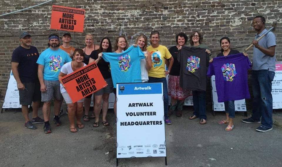 Birmingham Artwalk Volunteers. Pic from their FB page