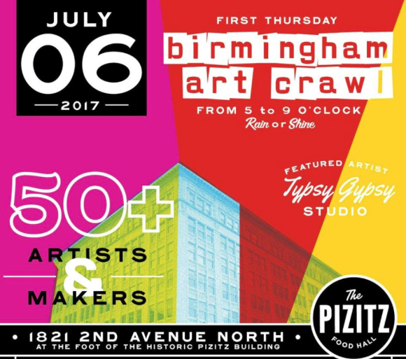 July Birmingham Art Crawl