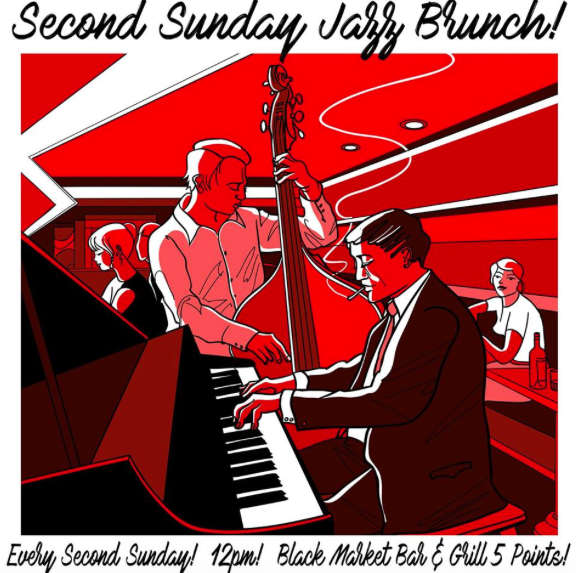 2nd Sunday Jazz Brunch Black Market Bar Birmingham