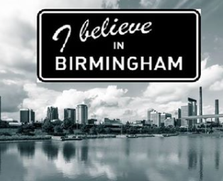 I believe in Birmingham Logo