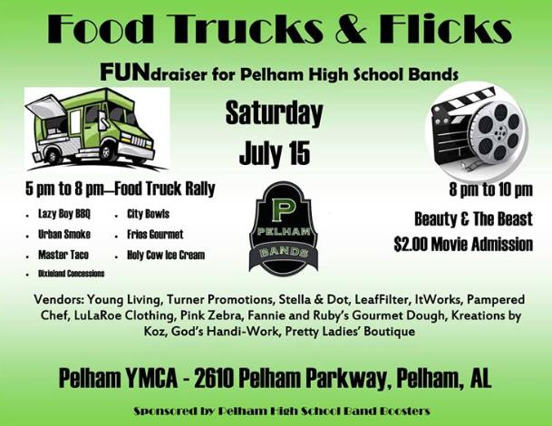Food Trucks & Flicks Food Truck Rally in Pelham