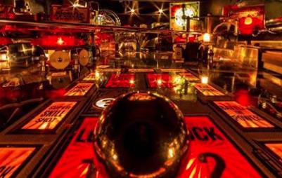 Inside view of Pinball Machine