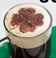 Irish Coffee with Four-leaf Clover
