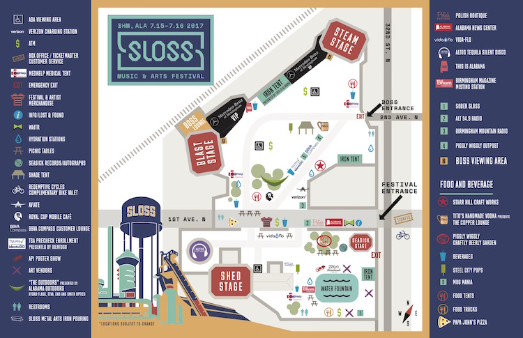 Sloss Festival 2017 Map