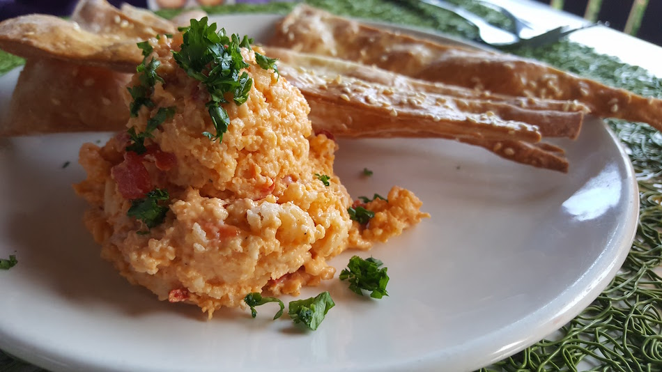 Pimiento Cheese and Crackers at Avo Restaurant in Mountain Brook