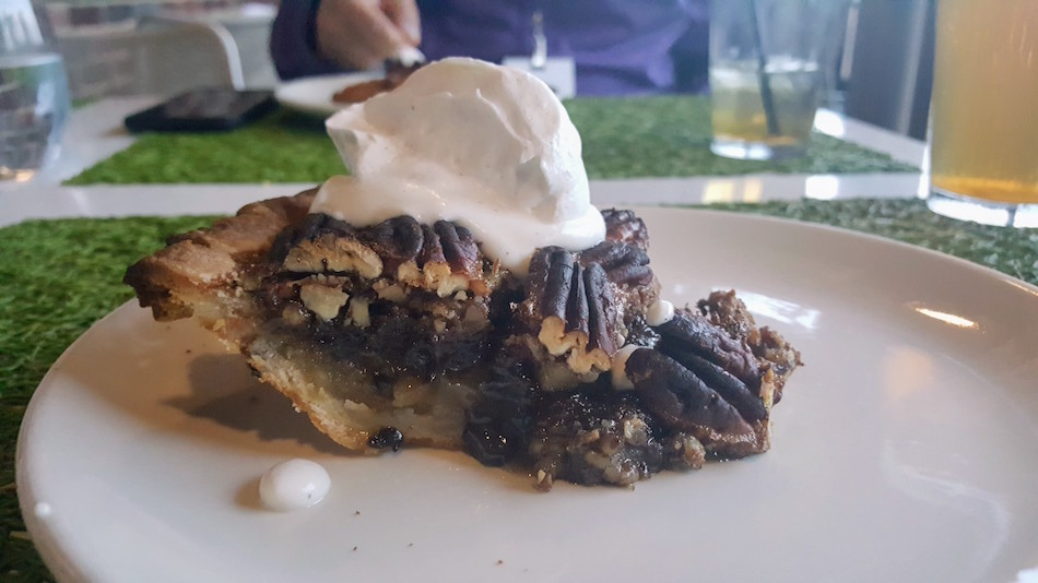 Kentucky Derby Pie with Pecans and Chocolate Chips at Avo Restuarant