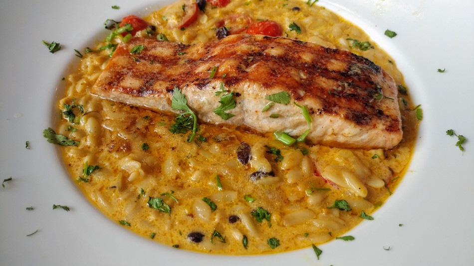 Yucatan Salmon at Cocina Superior for Birmingham Restaurant Week