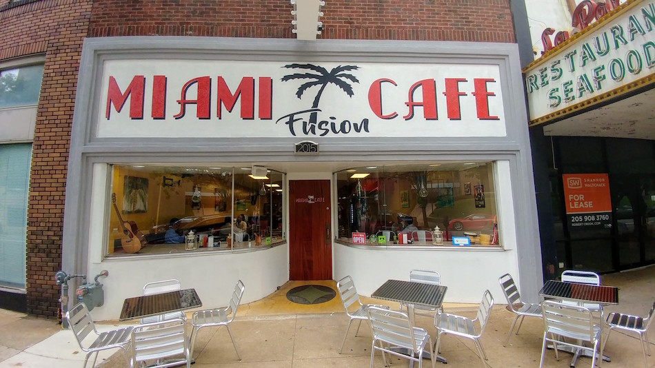 Miami Fusion Cafe exterior shot Birmingham AL